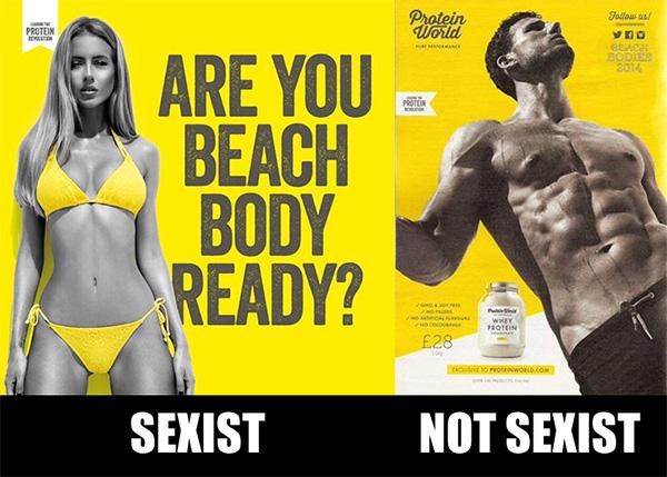 Double standards between the sexes